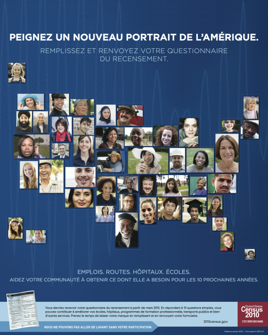 French Reading: Census - Peignez Un Nouveau Portrait De L'Amérique via Census.gov
