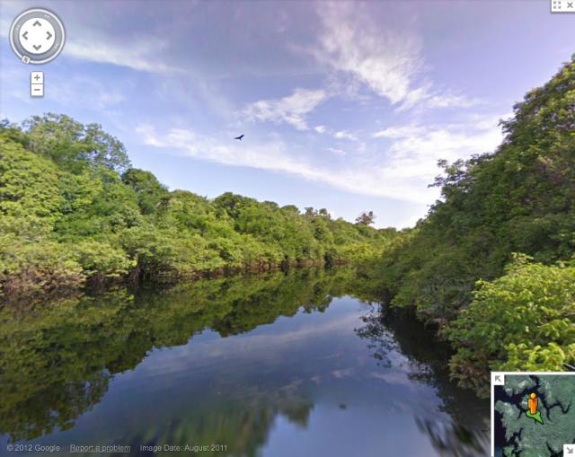 Folium: Visit The Amazon River With Google Street View!