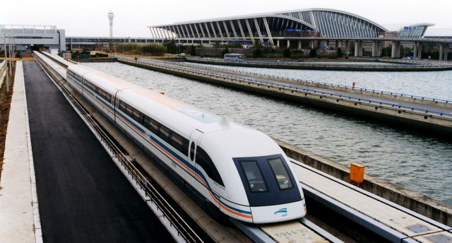 Folium: 267 MPH on the Shanghai Maglev Train via Wikimedia Commons