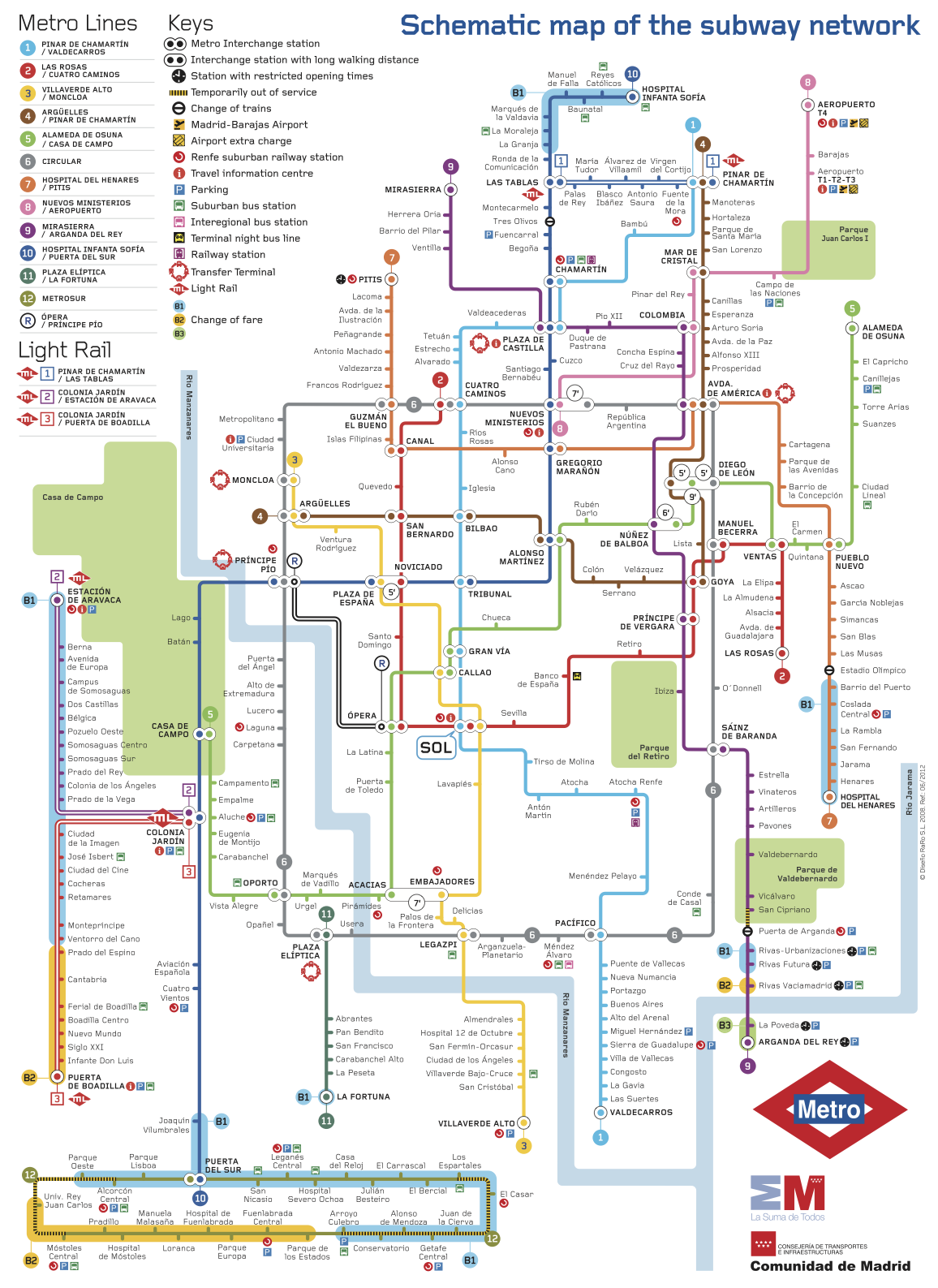 Spanish Metro Map.Spanish Reading Selections The Madrid Metro System The Leaf Project
