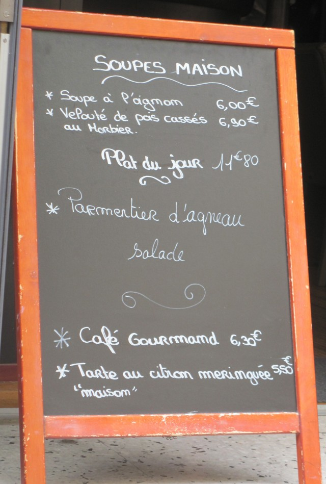 French Reading: Food and Dining - Les menus (2)