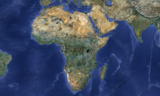 Folium: The True Size of Africa via Kai Krause