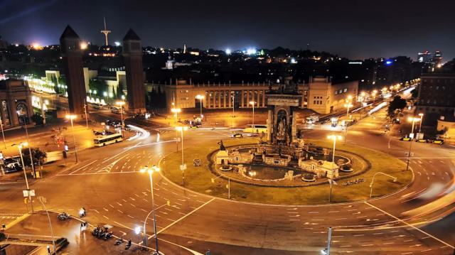Folium: Timelapse Barcelona via Vimeo