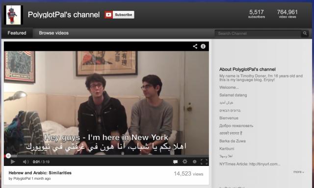 "Folium: Redefining ""Polyglot"" via YouTube"