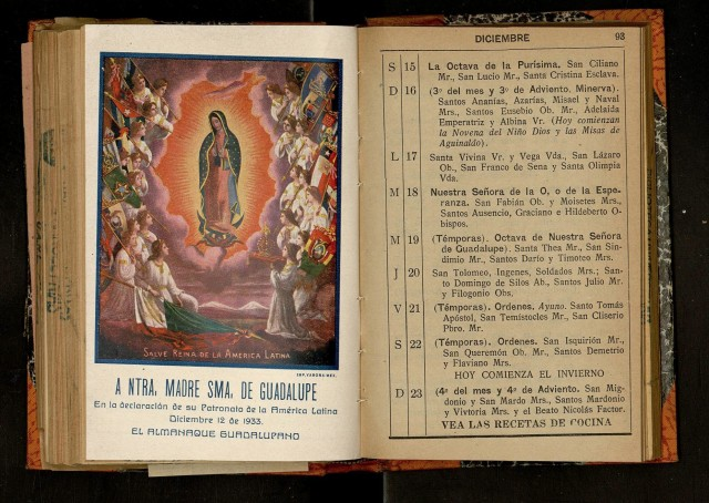 Spanish Reading Selections: El Almanaque Guadalupano