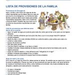 Lista de Provisiones PG1