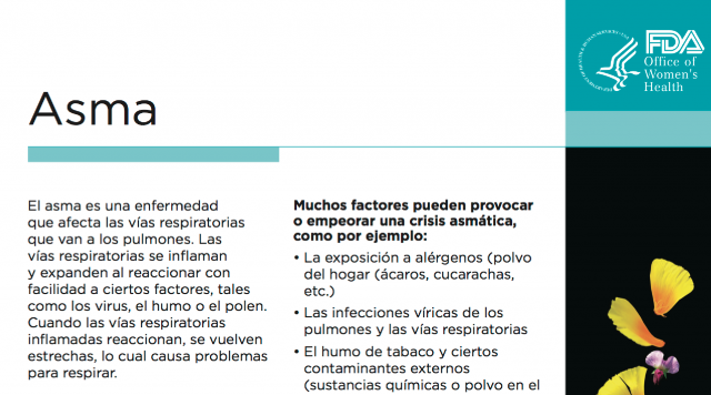 Spanish Reading Selections: Asthma