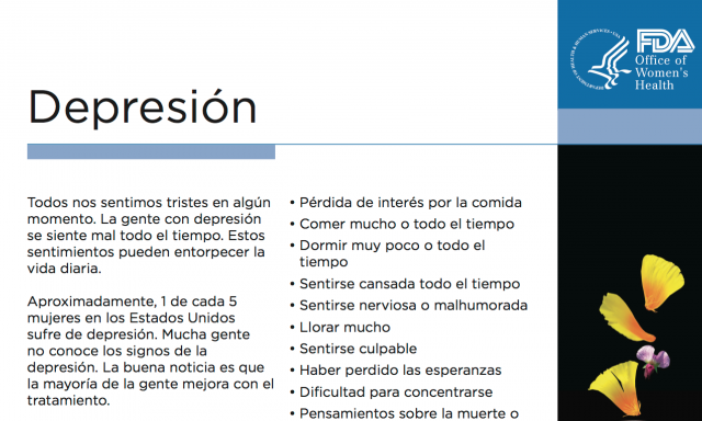 Spanish Reading Selections: Depression