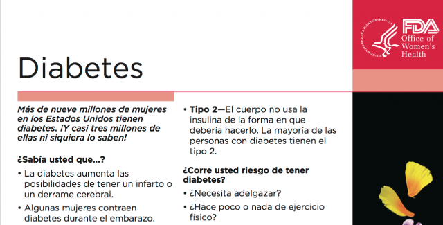 Spanish Reading Selections: Diabetes