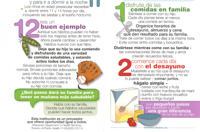Spanish Reading Selections: Healthy Daily Routines