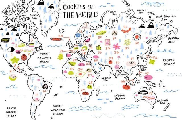 Folium: Cookies of the World via Food52