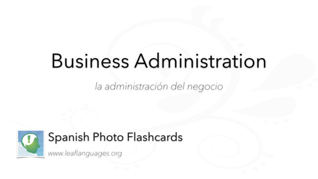 Spanish Photo Flashcards: Business Administration