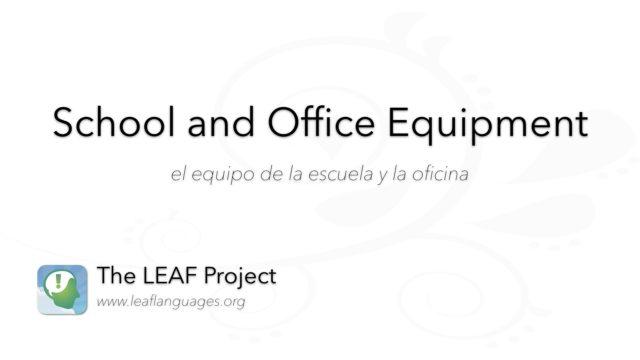 Spanish Photo Flashcards: School and Office Equipment