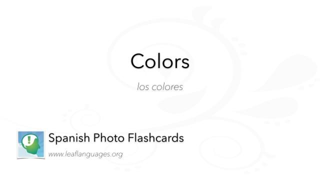 Spanish Photo Flashcards: Colors
