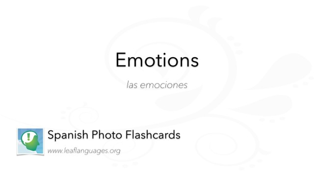 Spanish Photo Flashcards: Emotions and States