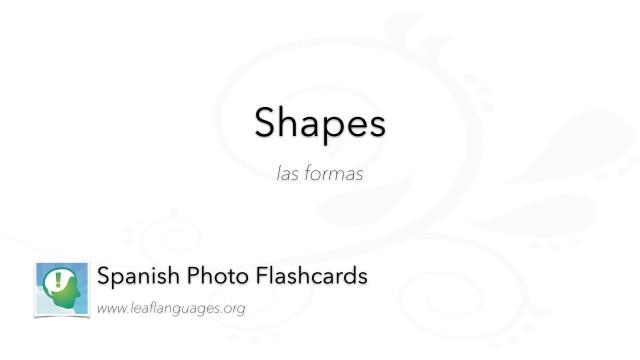 Spanish Photo Flashcards: Shapes
