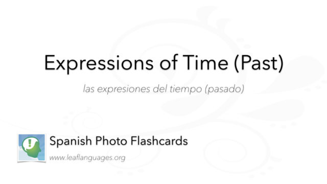 Spanish Photo Flashcards: Expressions of Time (Past)