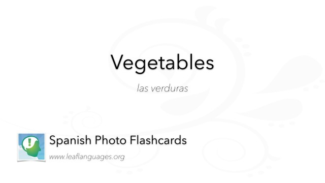 Spanish Photo Flashcards: Food - Vegetables
