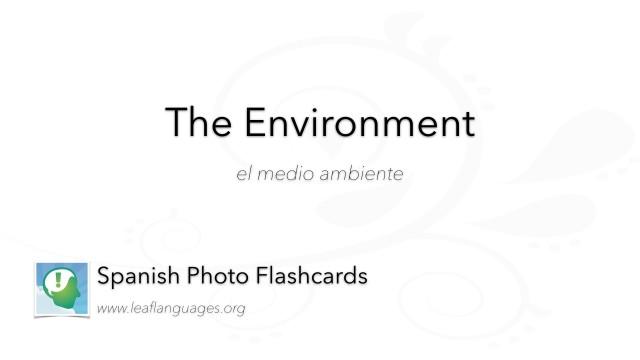 Spanish Photo Flashcards: The Environment