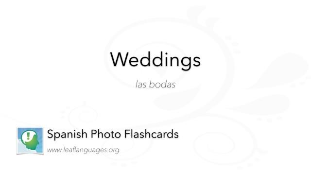 Spanish Photo Flashcards: Weddings