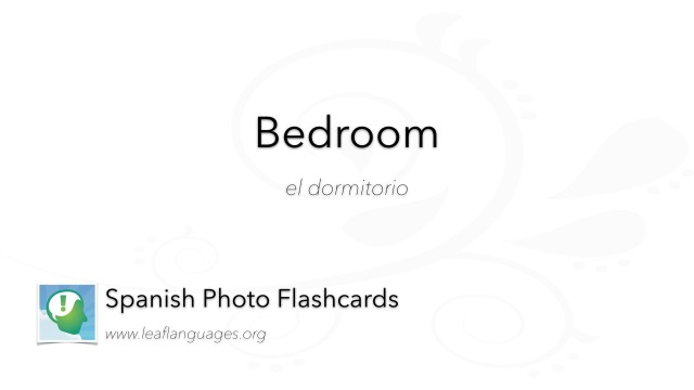 Spanish Photo Flashcards: Bedroom