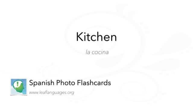 Spanish Photo Flashcards: Kitchen