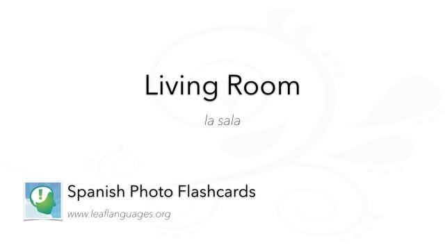 Spanish Photo Flashcards: Living Room