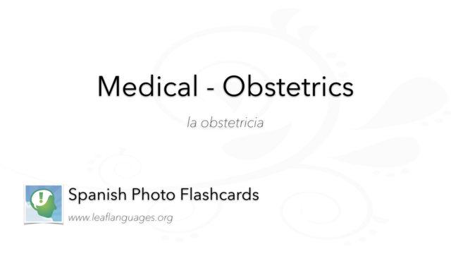 Spanish Photo Flashcards: Medical - Obstetrics