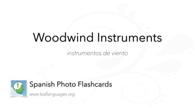 Spanish Photo Flashcards: Woodwind Instruments