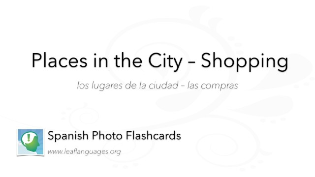 Spanish Photo Flashcards: Places in the City - Shopping