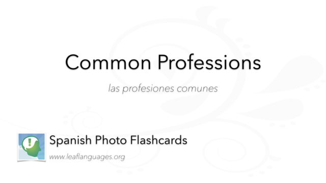 Spanish Photo Flashcards: Common Professions