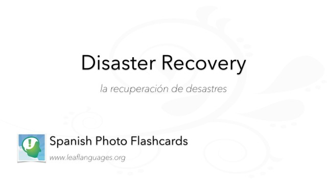 Spanish Photo Flashcards: Disaster Recovery