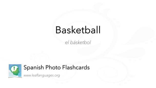 Spanish Photo Flashcards: Basketball