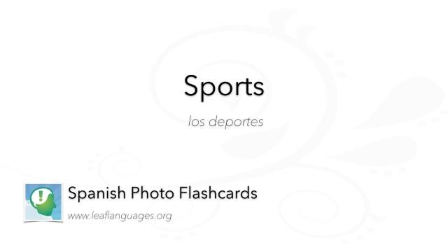 Spanish Photo Flashcards: Sports