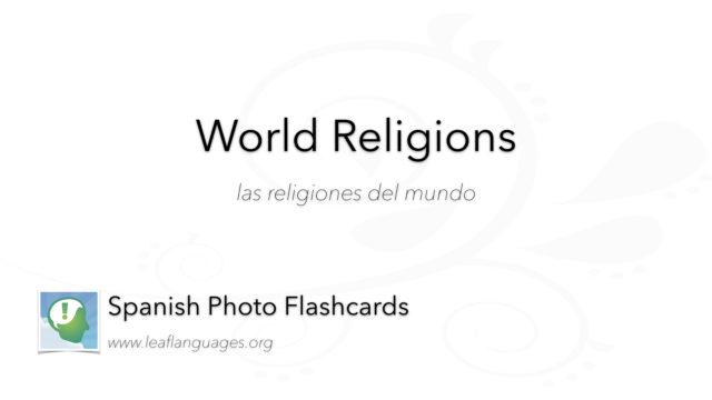 Spanish Photo Flashcards: World Religions