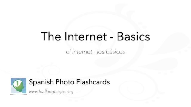 Spanish Photo Flashcards: The Internet - Basics