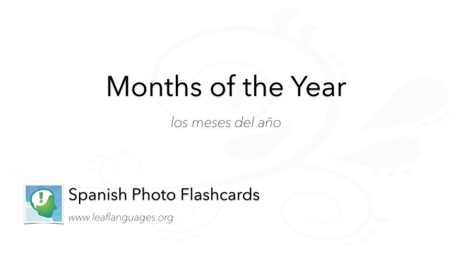 Spanish Photo Flashcards: Months of the Year
