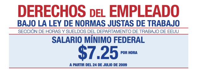 Spanish Reading Selections: Minimum Wage Laws