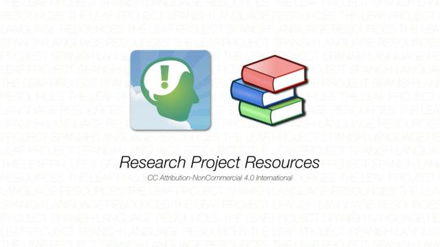 Research Project Resources