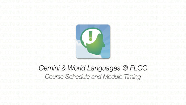 Gemini - Course Schedule and Module Timing