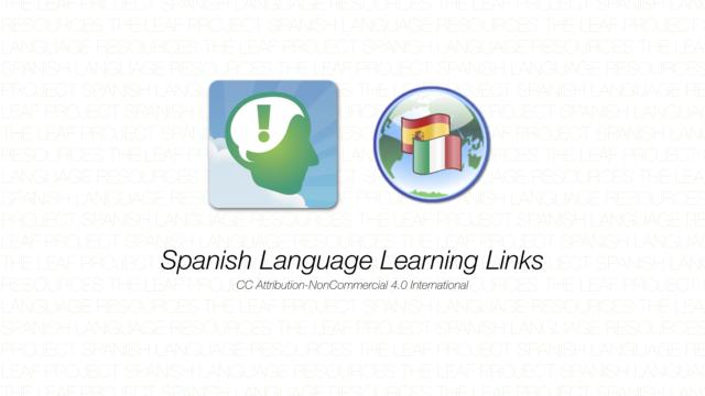 Spanish Language Learning Links