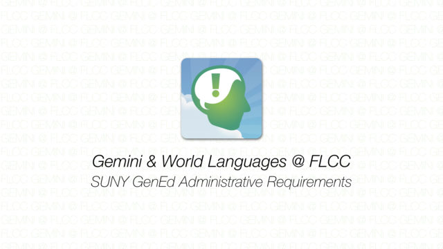 Gemini - SUNY GenEd Administrative Requirements