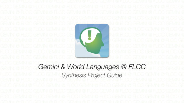 Gemini - Synthesis Project Guide