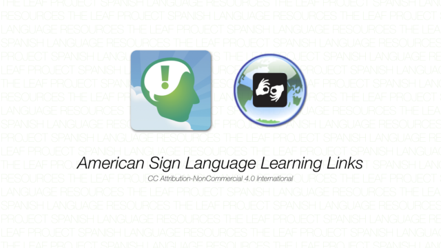 American Sign Language Learning Links