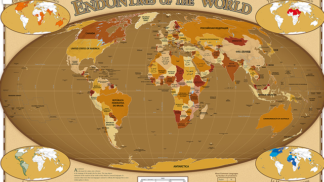 Folium: Countries as Named in Their Own Languages via MentalFloss